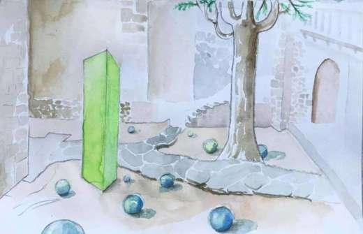 Exposition «Le Monolithe et les perles de verre» Philippe Chitarrini - Lagrasse